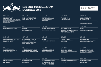 RBMA will touch down in Montreal for the exploration of Canadian and international music culture,