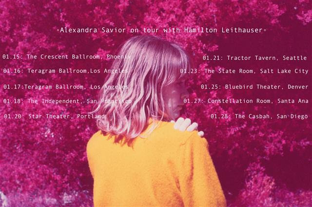 Alexandra Savior is set to join Hamilton Leithauser on his january dates in 2017.