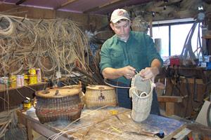 At Work Making Pack Baskets With Bill Mackowski Summer