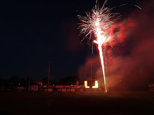 Fireworks at Vancouver Canadians Nat Bailey Stadium