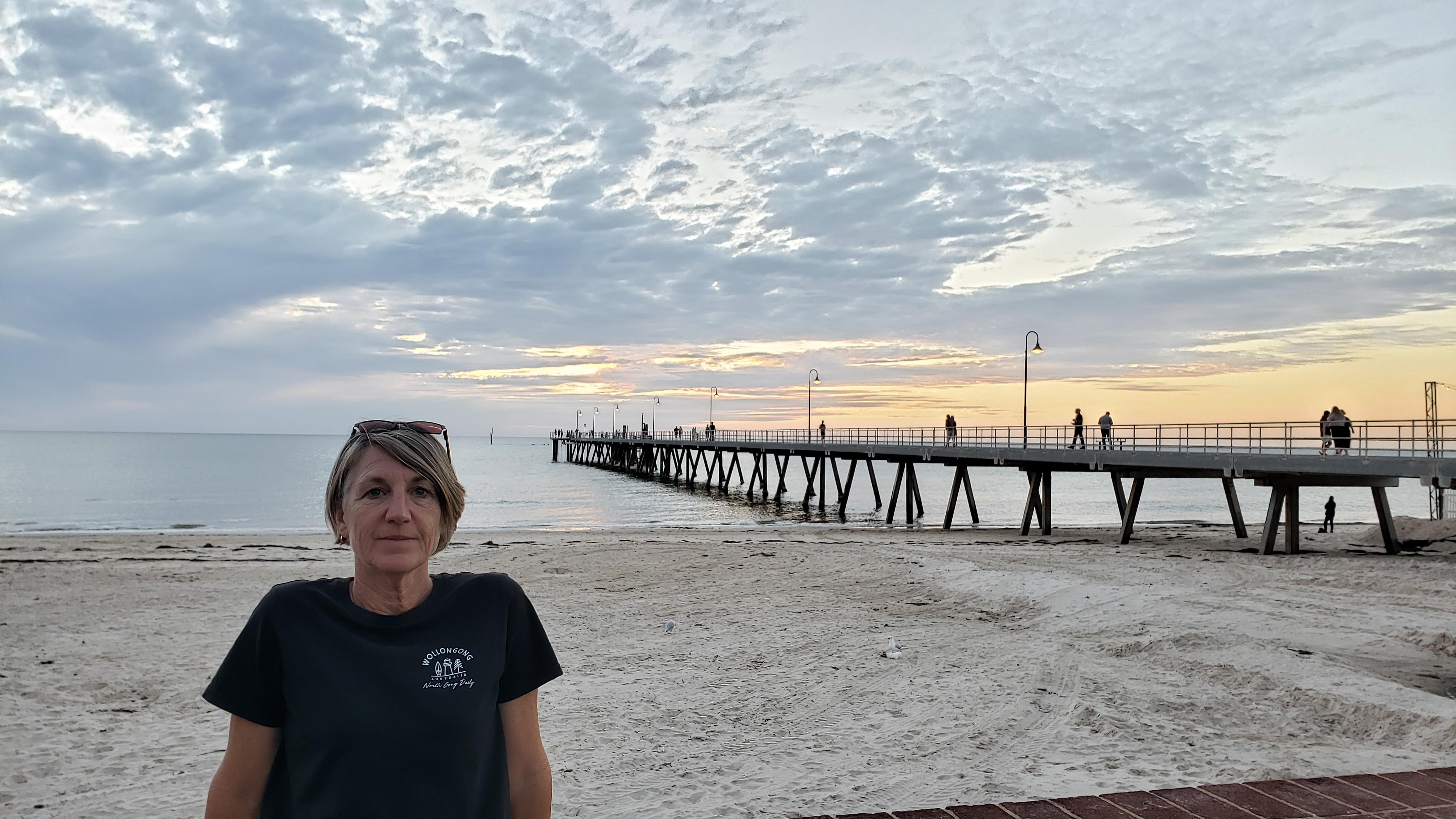 Michelle at Glenelg Beach, SA