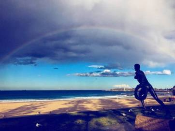 The Bronzed Lifesaver at North Gong Beach