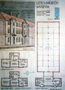 plan by barry parker of letchworth museum