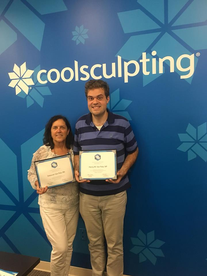 Congratulations to Deborah and Henry Matthew for completing Coolsculpting University