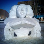 Snow Sculpture (Part of Contest one Spring, Barrow)