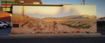 This mural depicts Southern Paiute. Yes, it's on the side of a 7-11. I don't know what to make of that.
