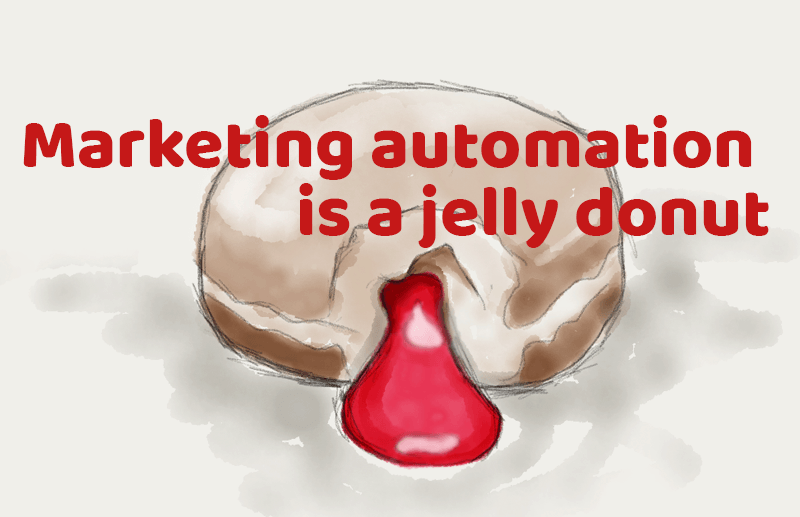 Marketing Automation is a Big, Fluffy, Jelly-filled, Glazed Donut