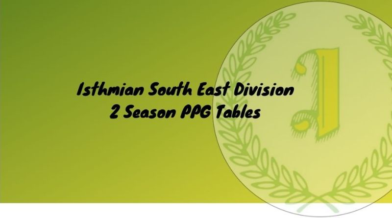 points per game isthmian south east division