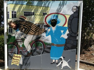 Old-school Cyclists in Ranfurly - click for larger
