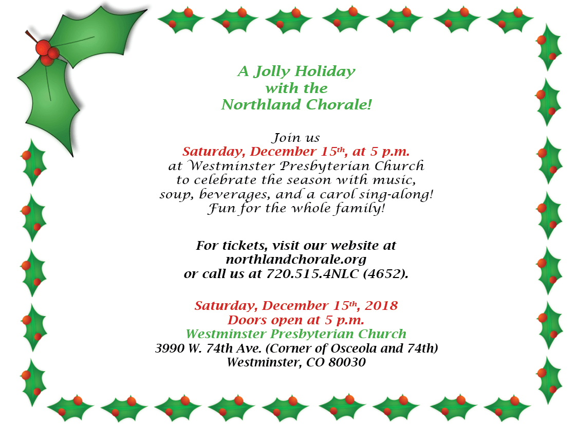 NLC Jolly Holiday flyer