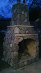 Outdoor Fireplace #1