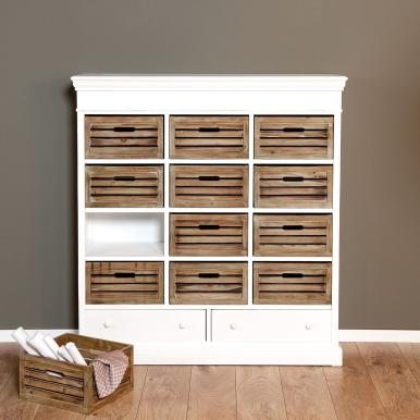 Campagne Shelf - http://www.butlers-online.co.uk/CAMPAGNE-Shelf-with-14-drawers/10153703,en,pd.html?start=22&cgid=Furniture