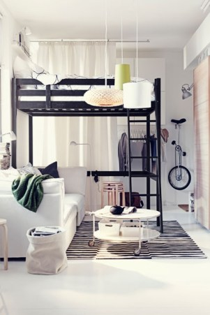 Loft bed - http://pinterest.com/pin/231231762089891642/