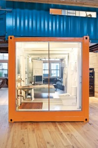 Open plan living - http://www.ideastosteal.com/2012/06/shipping-container-create-a-creative-space/