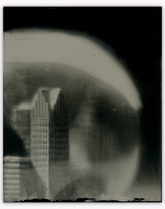 "Bill Schwab – ""Metropolis"" Unique 8 x 10 Collodion on Aluminum"