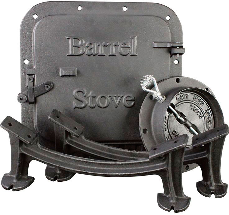 Vogelzang Deluxe Airtight Barrel Stove Kit