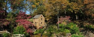 The Old Mill in fall, North Little Rock, Arkansas