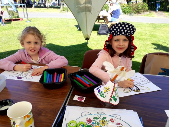2018 Gardening festival - colouring garden fairies