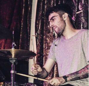 London drum teacher Luca Romano playing live
