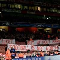 munich fans ticket price protest emirates stadium