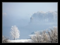 Frosty Normanton Church - photo by David J Bannister