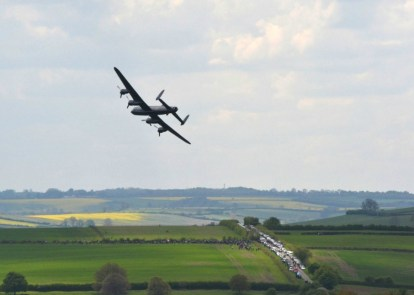 Lancaster banking over Eyebrook