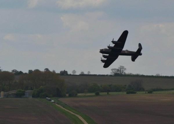 BBMF Lancaster flying over Eyebrook