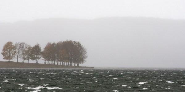 Raining on Rutland Water
