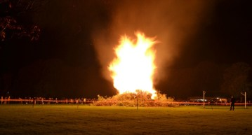 Every year, around Bonfire Night, the Parish Council organise a bonfire and firework display [photo by Katy Ellis]