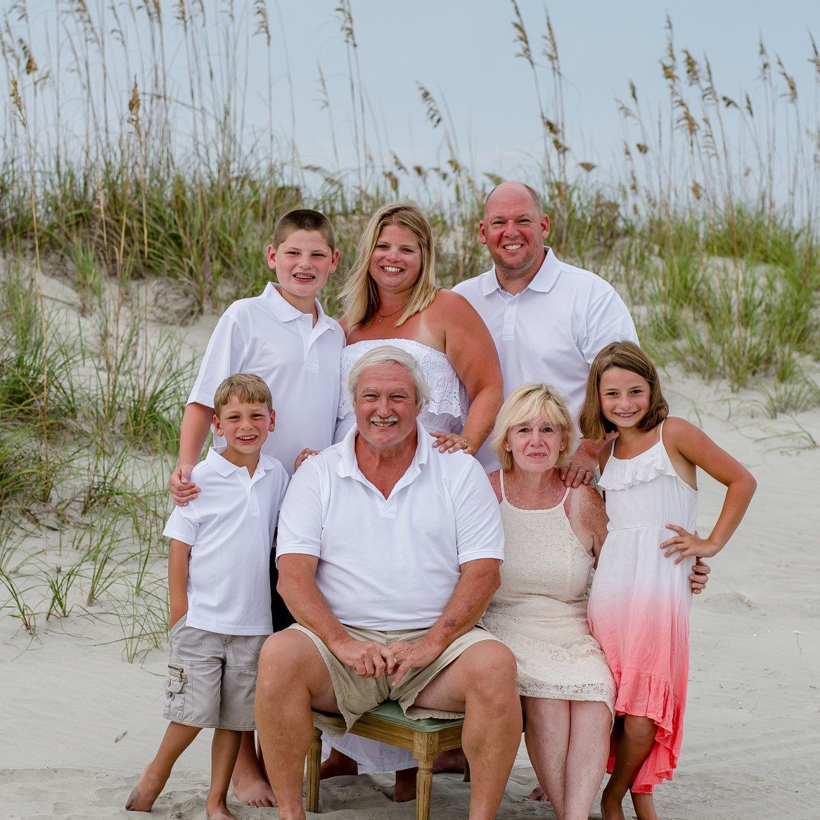 family beach portraits in the sand dunes