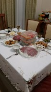 ...set up a really nice table...