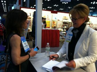 Booth signing