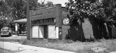Mobil Gas Station, N. 24th and Willis, North Omaha, Nebraska