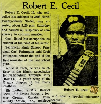 Robert E. Cecil, North Omaha, Nebraska