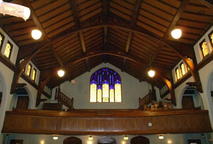 The choir loft at Pearl Church.