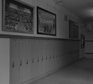 Lockers at North in the 1960s.