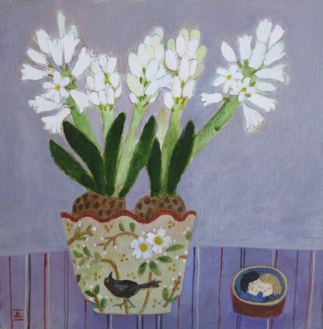 "Spring Flowers/11x11""/Acrylic on Board"