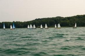 11 boats sailing
