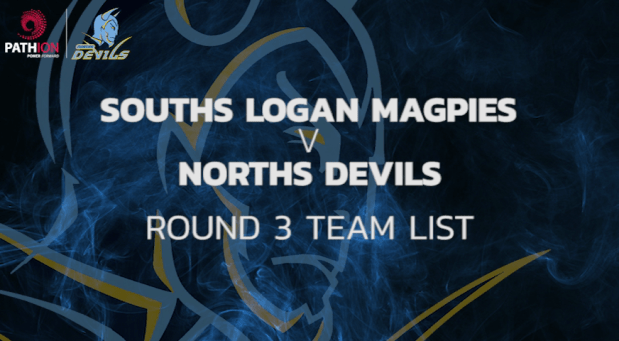 Norths Devils Round 3 Team List