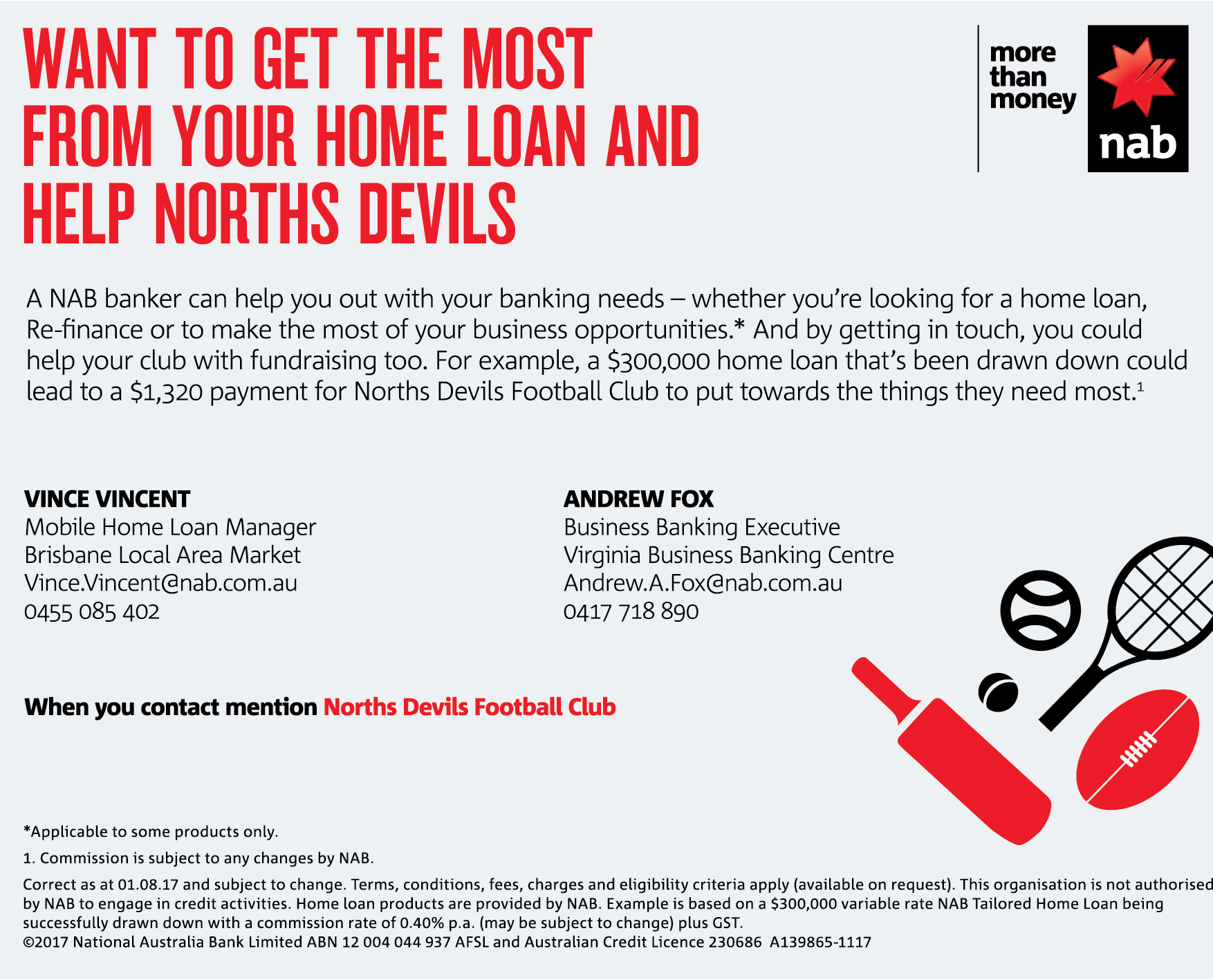 NAB Norths Devils Promotion