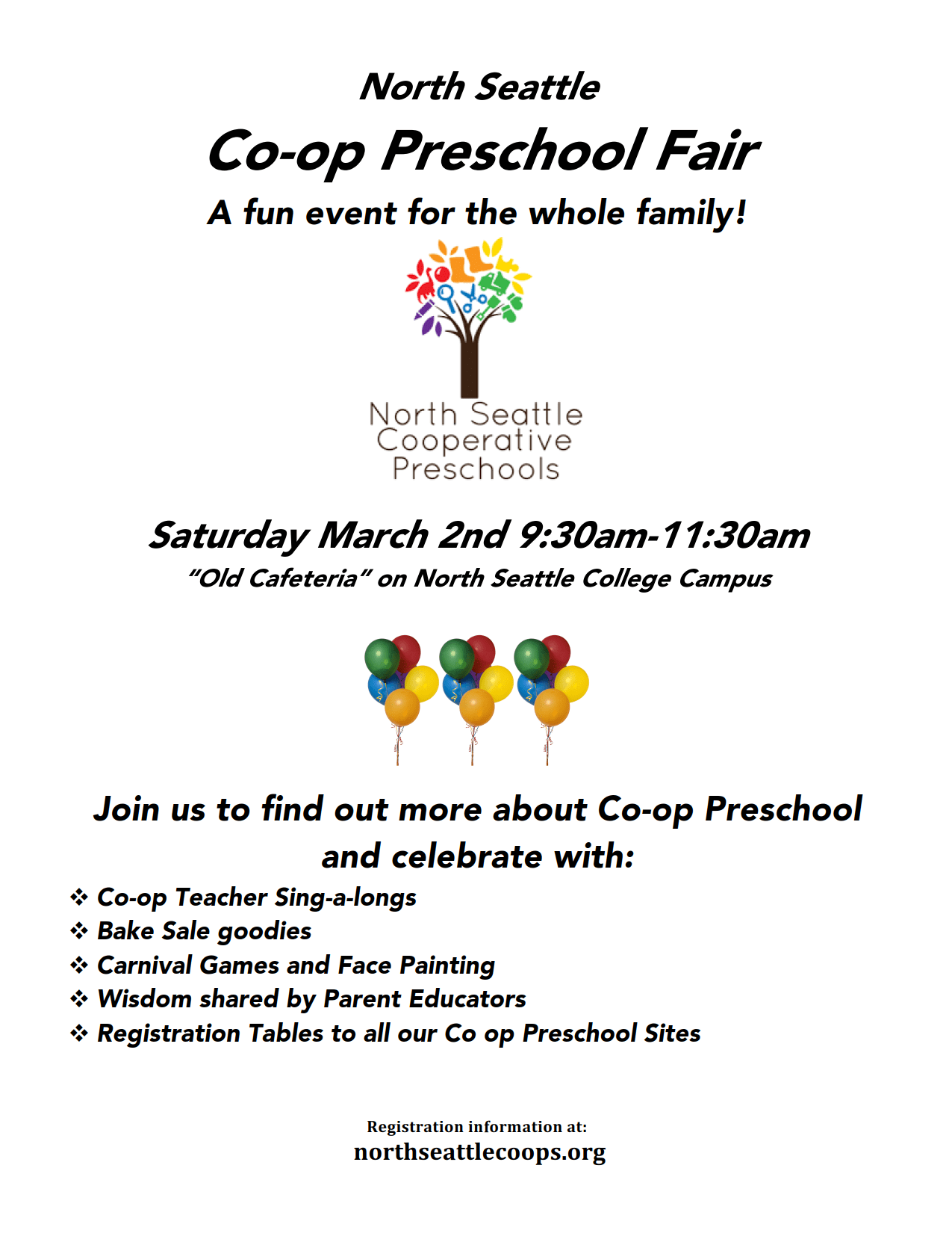 Preschool Fair and Open Registration 2019