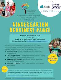 Kindergarten Readiness Panel flyer