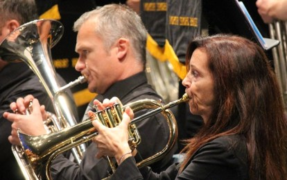A perfect match of sounds - Tim Large on horn and Kate Wright on flugel