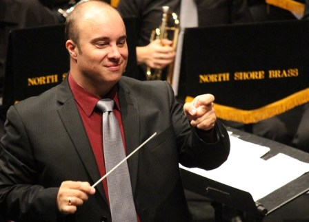 Musical Director Colin Clark enjoying the music - as well he should!