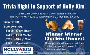 Trivia Night in Support of Holly Kim @ Bill's Pub North | Third Lake | Illinois | United States