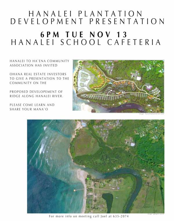 Hanalei Plantation Development Presentation
