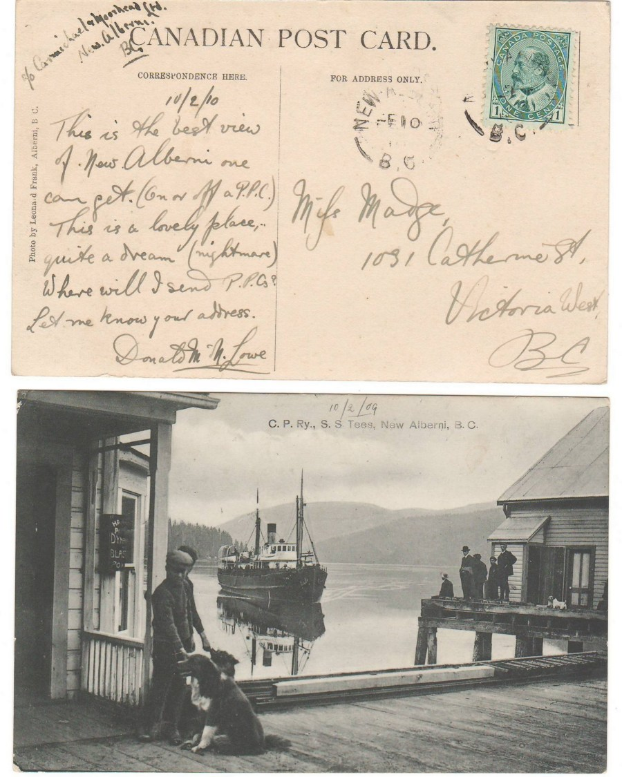 S.S. Tees New Alberni 1909