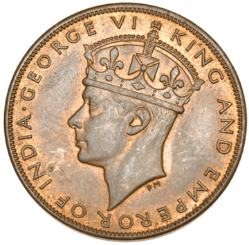 Hong Kong 1941 1 Cent - Reverse