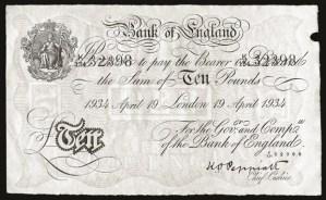 Operation Bernhard Bank of England 10 Pounds