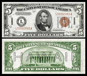 US $5 Hawaii